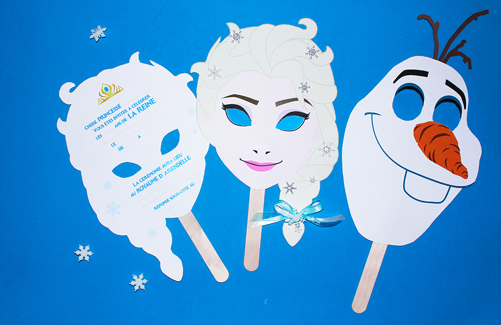 Invitation anniversaire reine des neiges gratuit à imprimer
