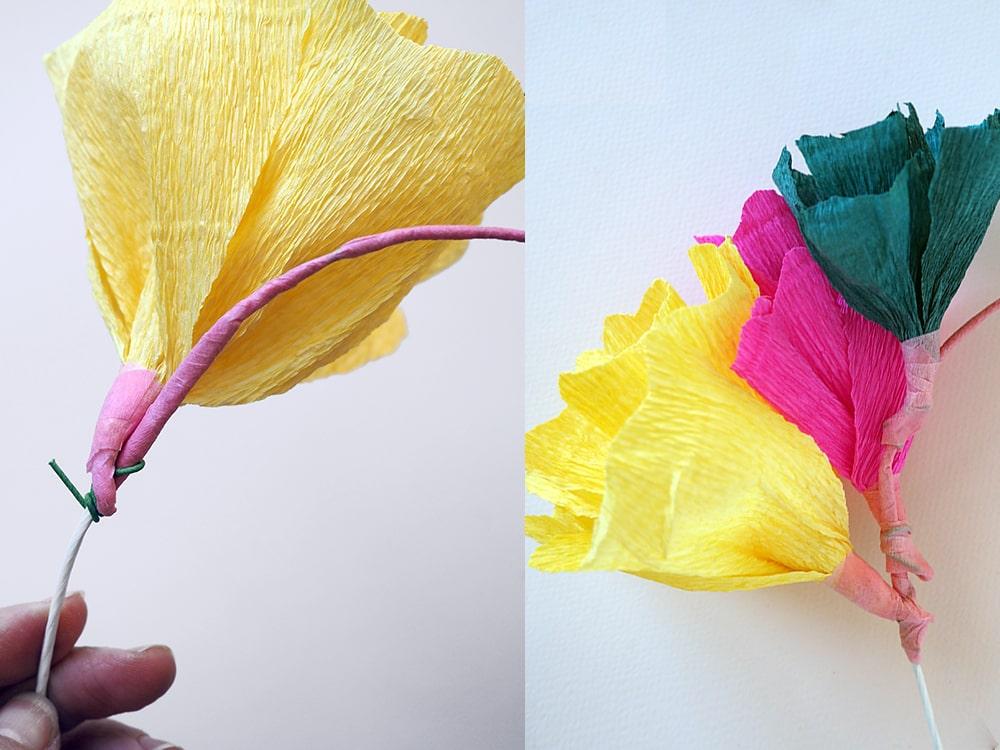 DIY couronne de fleurs en papier à faire à la maison