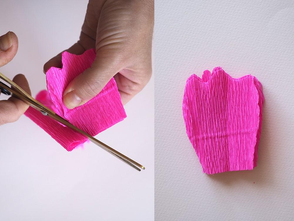 Tuto DIY couronne de fleurs en papier