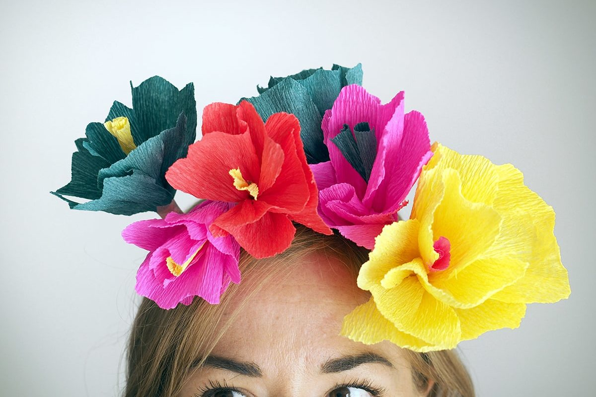 DIY couronne de fleurs en papier Sweet Party Day