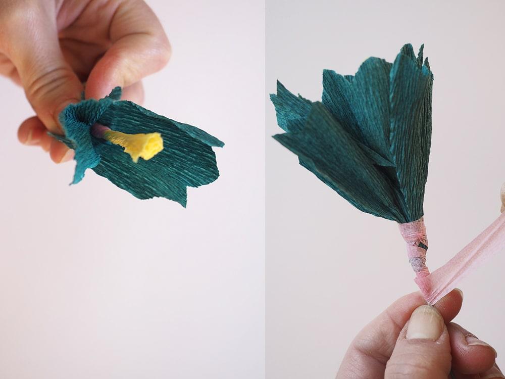 DIY couronne de fleurs en papier facile - Sweet Party Day