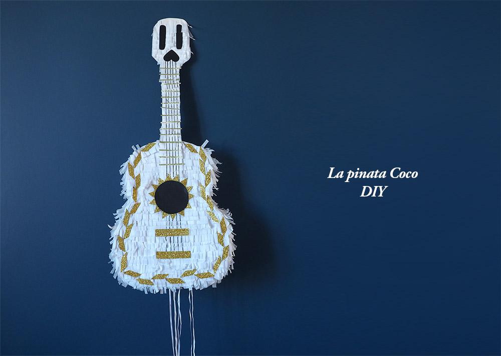 DIY pour fabriquer une pinata guitare anniversaire Coco