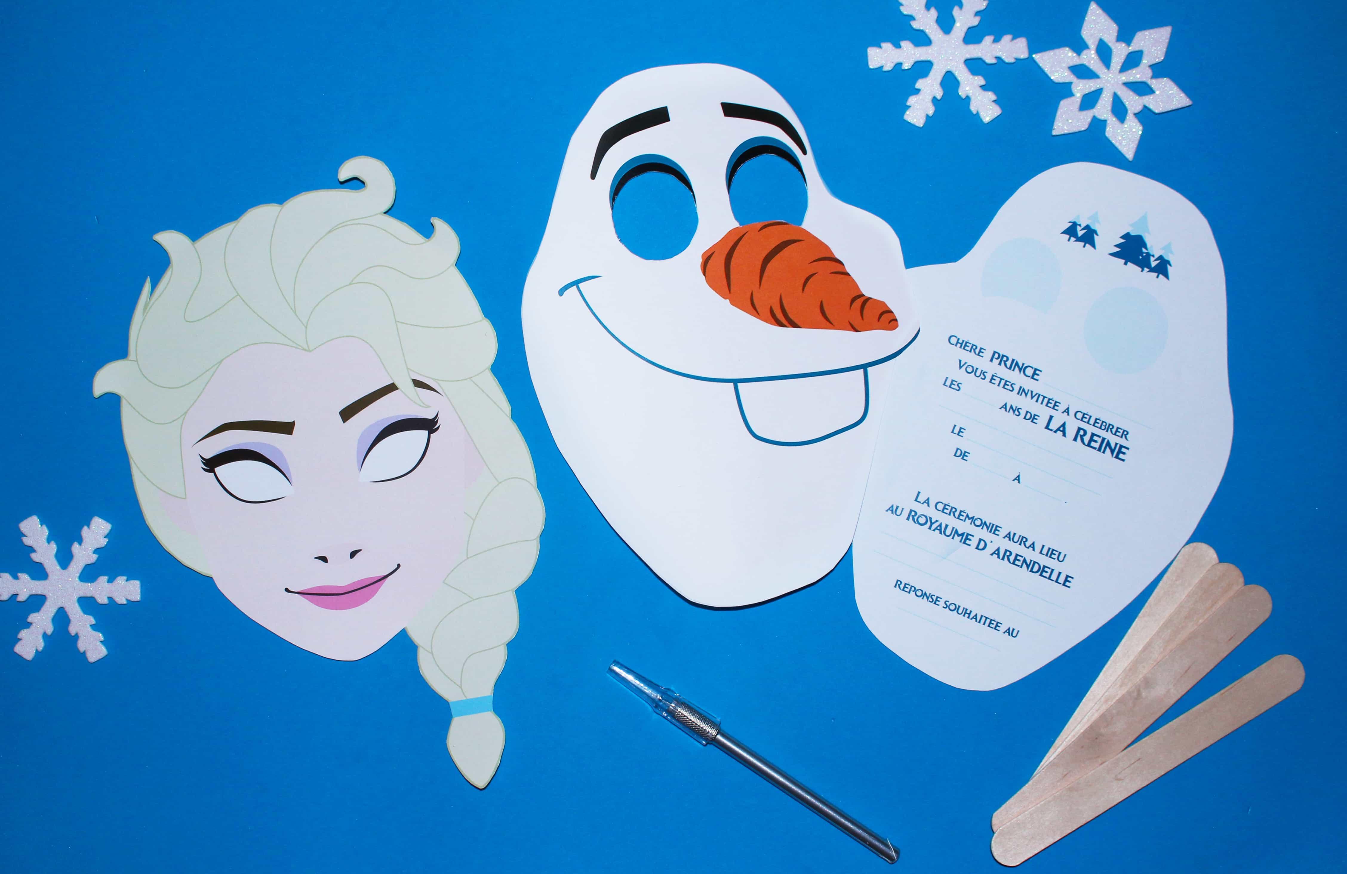Carte invitation anniversaire Reine des neiges gratuit