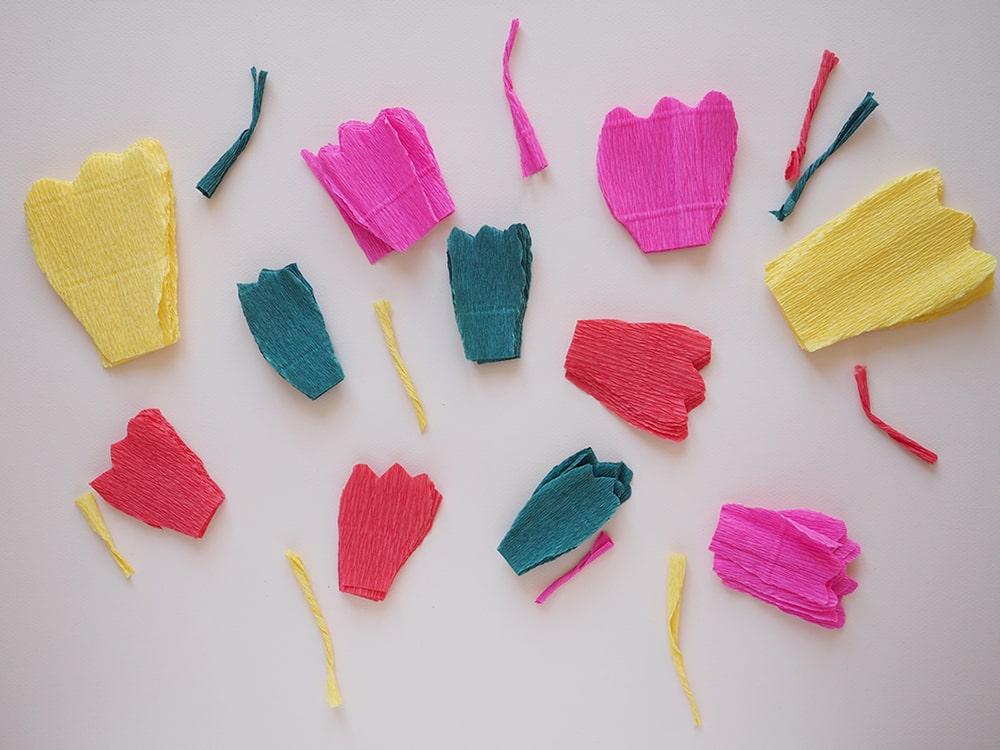 DIY couronne de fleurs en papier à faire soi-même