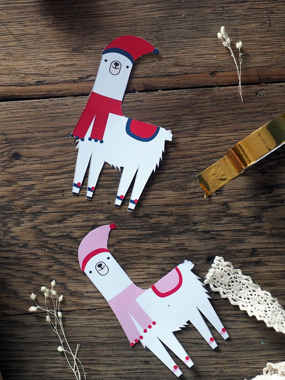 Etiquette cadeaux lama à imprimer pour Noel - Blog Sweet Party Day