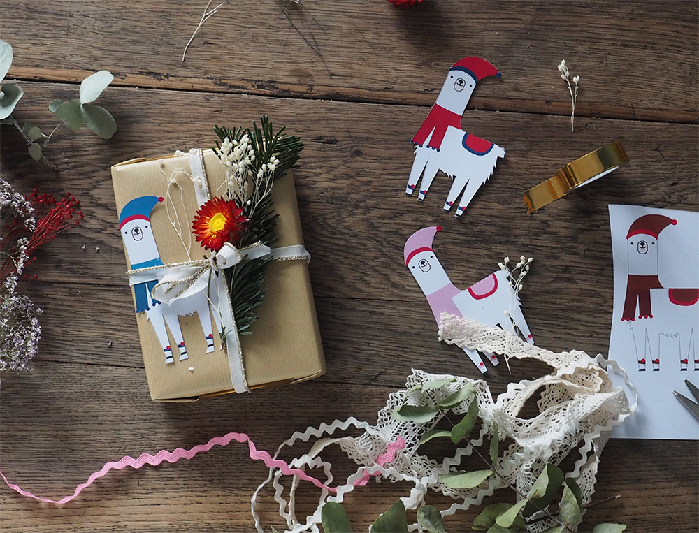 Etiquette cadeau noel lama diy a imprimer gratuitement - Blog Sweet Party Day