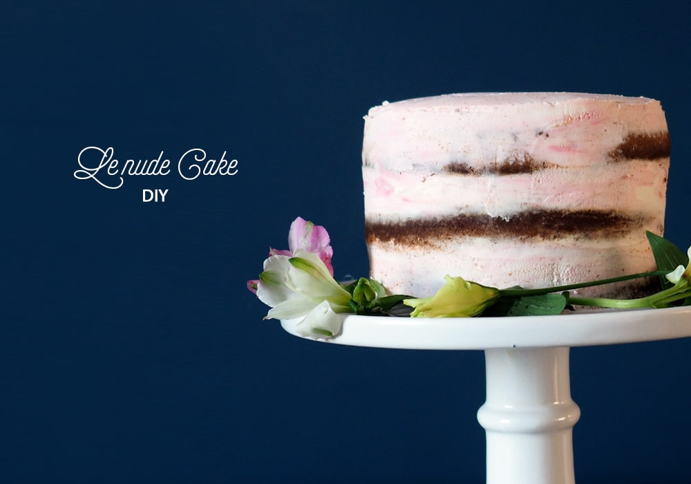Comment faire un gateau nu le diy du nude cake par Sweet Party Day
