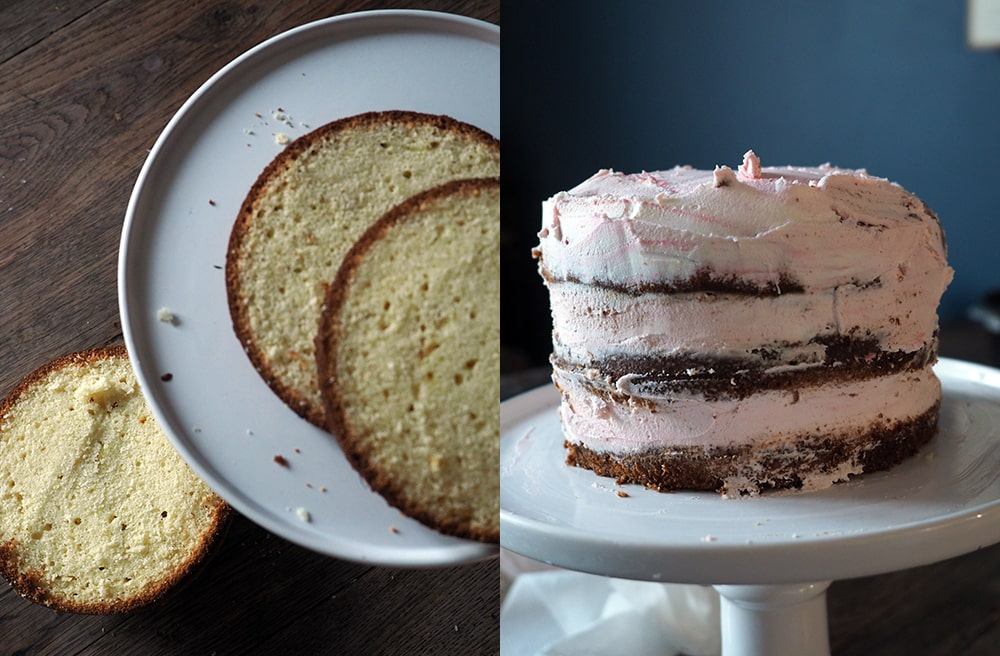 Gateau nu, la recette du naked cake par Sweet Party Day
