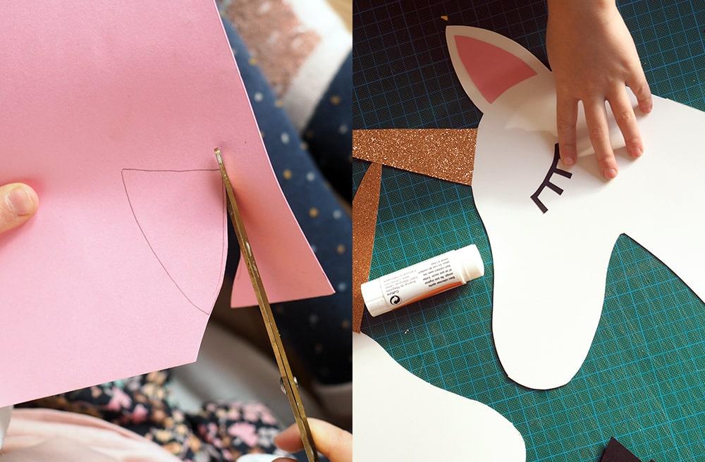 Fabriquer une tête de licorne à chevaucher DIY Sweet Party Day