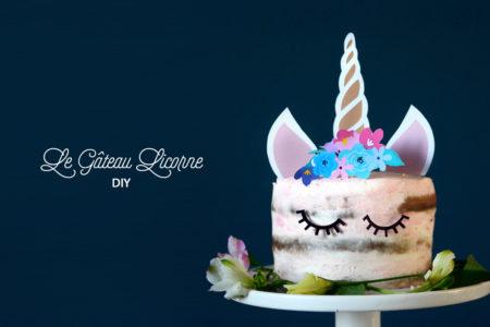 CAKE TOPPER LICORNE A IMPRIMER