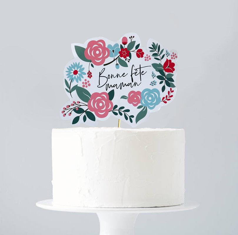 Cake topper fête des mères